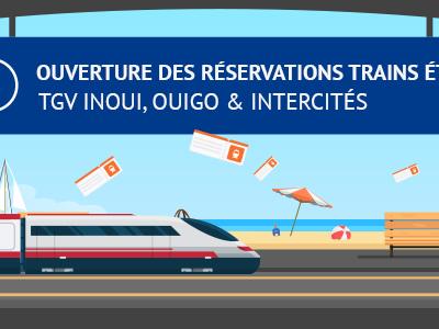 SNCF : début des réservations de billets de train pour l'été 2019