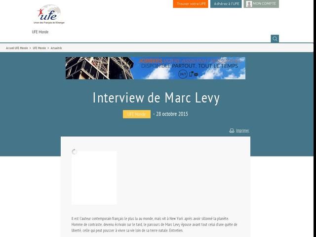 Interview de Marc Levy