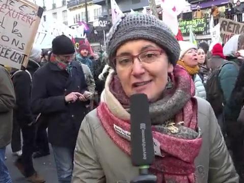 Vidéo - Interview de Nathalie Arthaud à la Manifestation du vendredi 24 janvier à Paris
