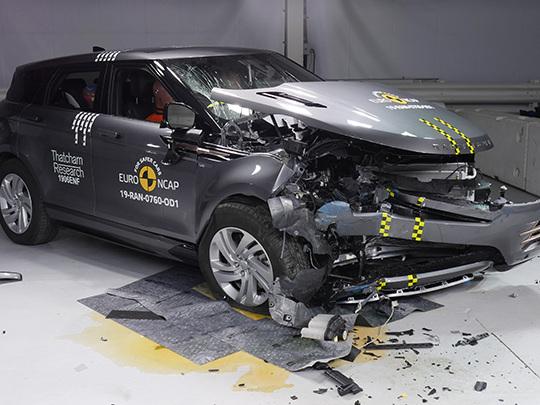 Cinq étoiles aux tests de sécurité Euro NCAP pour le Range Rover Evoque