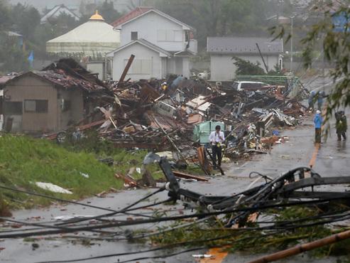 Le typhon Hagibis s'abat violemment sur le Japon: au moins 11 morts et près de 100 blessés