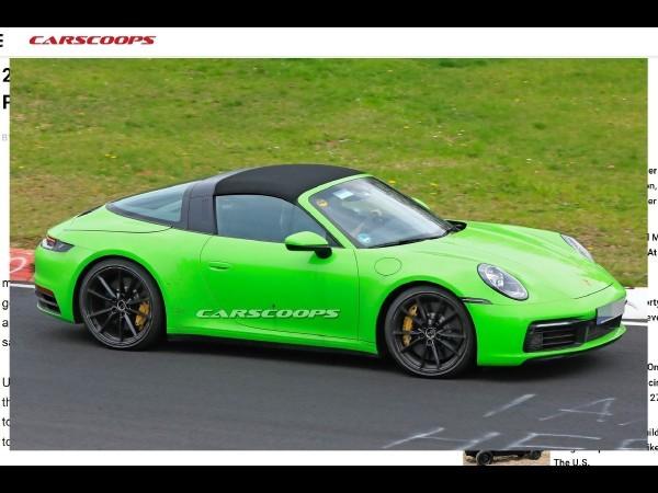 Porsche : la prochaine 911 Targa estde sortie