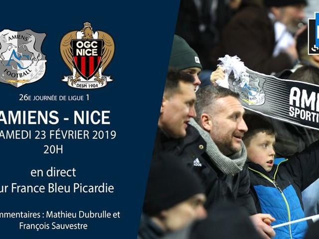 Ligue 1 - direct : suivez le match de la vingt-sixième journée entre Amiens et Nice