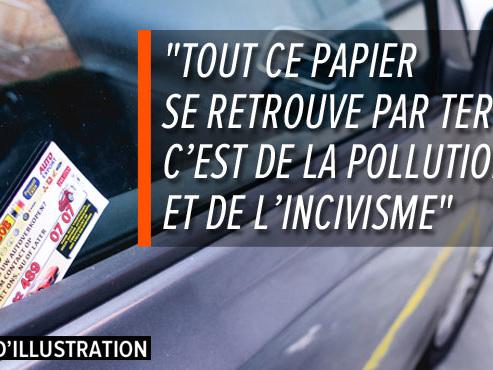 """""""Votre voiture nous intéresse!"""": Olivier en a marre de ces petites cartes de visite plastifiées apposées sur les véhicules"""