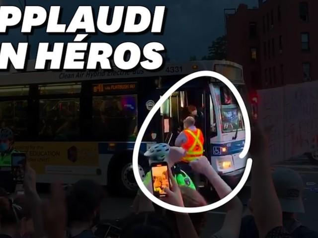 Manifestations pour George Floyd: ce chauffeur de bus applaudi pour avoir désobéi à la police