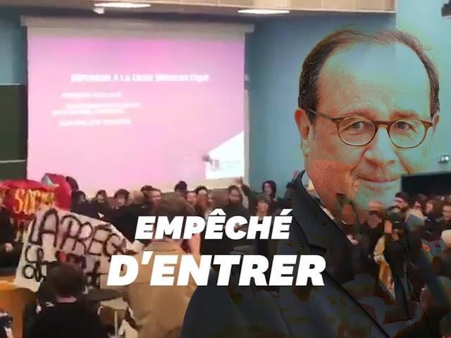 À Lille, la conférence de Hollande annulée par des étudiants en colère