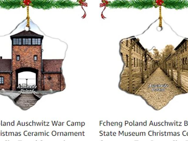 Le mémorial d'Auschwitz demande à Amazon de retirer de la vente des décos de Noël à l'effigie du camp