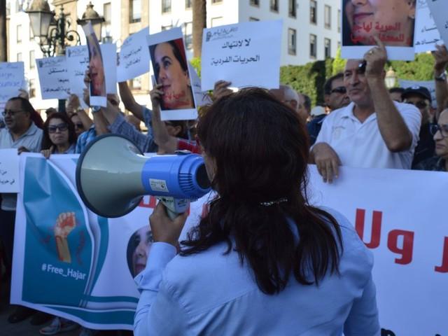Rabat: Associations et militants manifestent en soutien à Hajar Raissouni