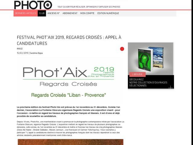 Festival Phot'Aix 2019, Regards Croisés : appel à candidatures
