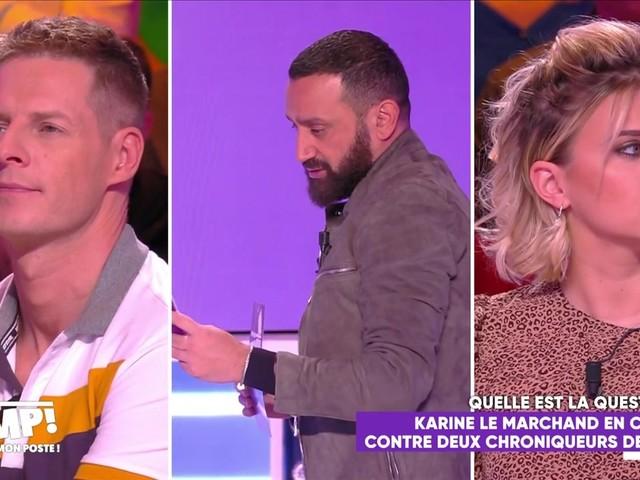 """VIDEO. Après le tacle de Karine Le Marchand, Cyril Hanouna défend Kelly Vedovelli et Matthieu Delormeau : """"Ils sont plus intelligents que toi"""""""