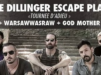 Live Report : The Dillinger Escape Plan + WarsawWasraw + God Mother @ La Laiterie, Strasbourg - 20/06/17
