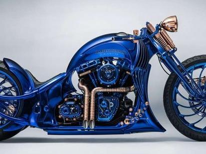 Cette Harley-Davidson Blue Edition est la moto la plus chère du monde