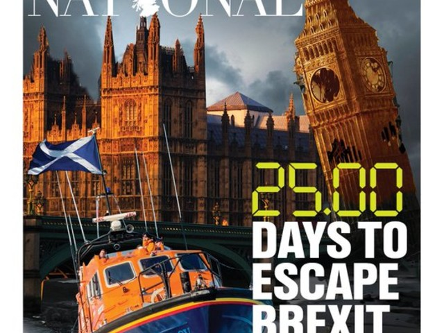 Today's National front page, by Duncan Sutherland