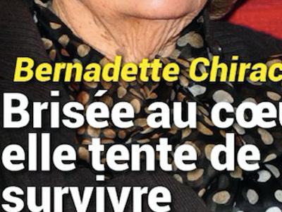 Bernadette Chirac, brisée au coeur, surprenante façon de survivre