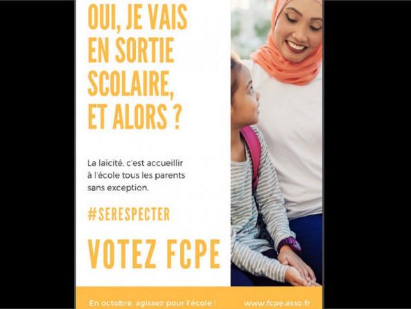 Sorties scolaires : l'affiche avec une mère voilée a créé un malaise à la FCPE