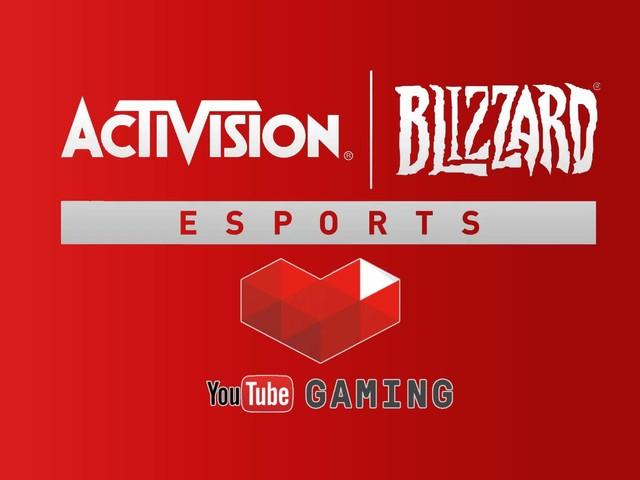 YouTube Gaming partenaire avec Activision-Blizzard pour les droits de diffusion des compétitions Esport