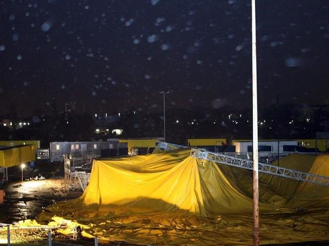 Une tornade frappe un chapiteau en Allemagne, douze blessés
