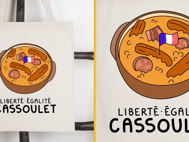 [TOPITRUC] Un tote bag «Liberté Égalité Cassoulet» pour représenter fièrement le Sud-Ouest