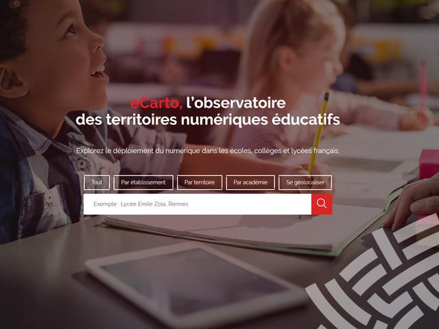 eCarto : l'observatoire des territoires numériques éducatifs - Information