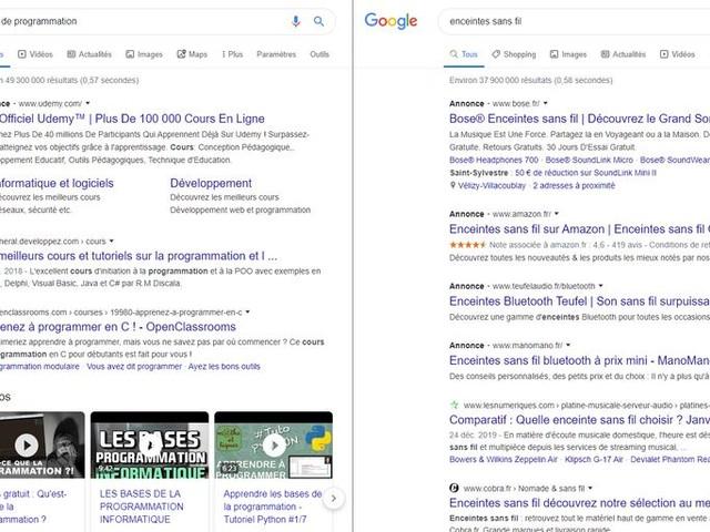 Actualité : Résultats Google Search : un repérage des publicités plus complexe