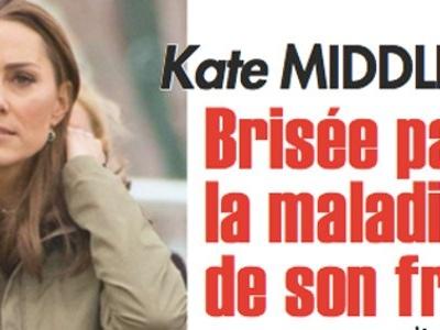 Kate Middleton angoissée, elle est brisée par le mal qui ronge son frère