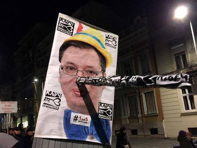 En Serbie aussi, on manifeste le samedi