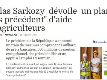 Sarkozy/Agriculteurs: »Monsieur je sais tout » alias républicain 1er invente le « ilfauconnisme »…