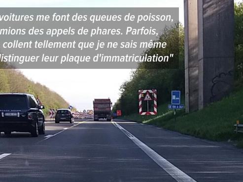"""Nadège révoltée par le comportement des automobilistes en traversant ce chantier: """"J'ai la peur au ventre"""" (vidéo)"""
