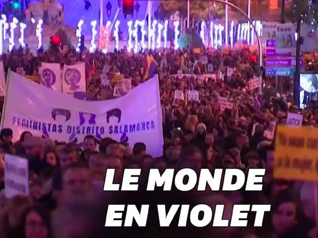 Les femmes marchent pour l'élimination de la violence dans le monde entier
