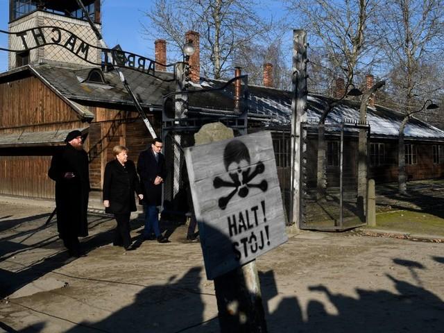 """Angela Merkel à Auschwitz : le souvenir des crimes nazis demeure """"inséparable"""" de l'identité allemande"""