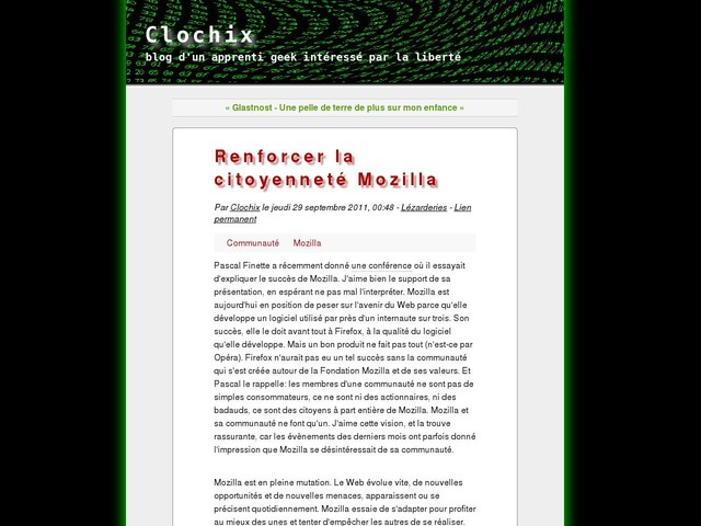 Renforcer la citoyenneté Mozilla