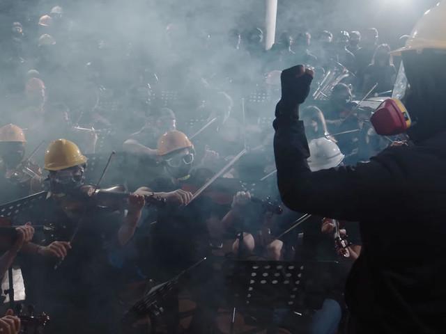 """À Hong Kong, l'hymne à la révolte du """"Black Blorchestra"""""""