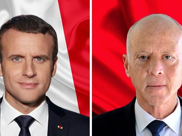 Tunisie : Kais Saïed s'entretient avec Emmanuel Macron