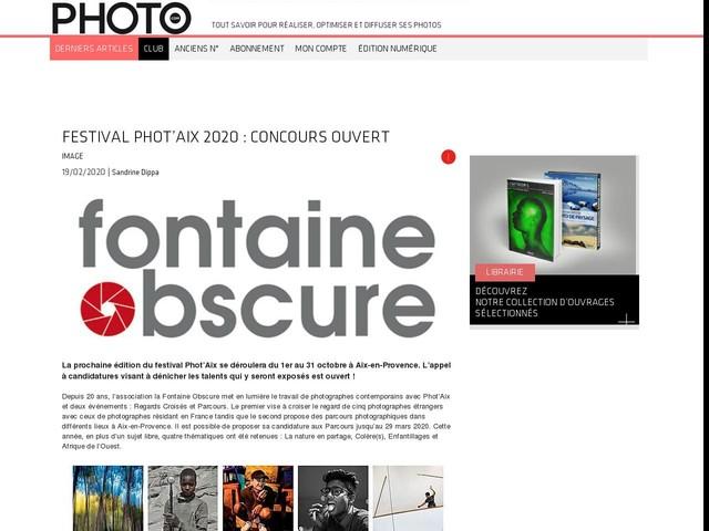Festival Phot'Aix 2020 : concours ouvert