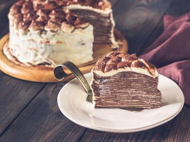 Recette Public : Le gâteau de crêpes choco-noisettes