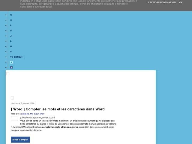 [ Word ] Compter les mots et les caractères dans Word