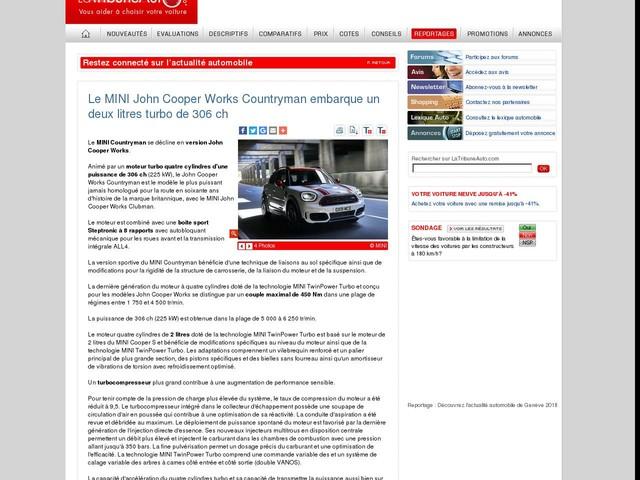 Le MINI John Cooper Works Countryman embarque un deux litres turbo de 306 ch