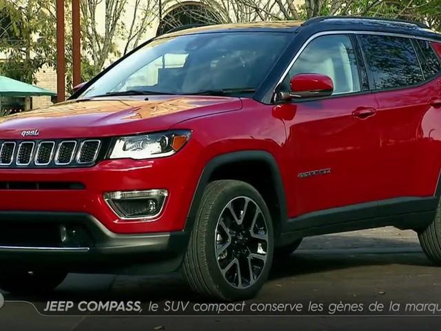 Jeep Compass : le SUV compact concerve les gènes de la marque - Emission TURBO du 16/04/2017