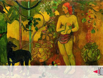 «Gauguin l'alchimiste», œuvres au plat