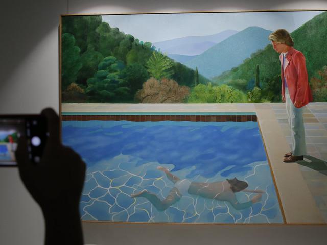 Une toile de David Hockney explose le record de vente pour un artiste vivant