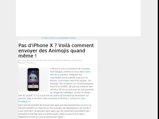 Pas d'iPhone X ? Voilà comment envoyer des Animojis quand même !