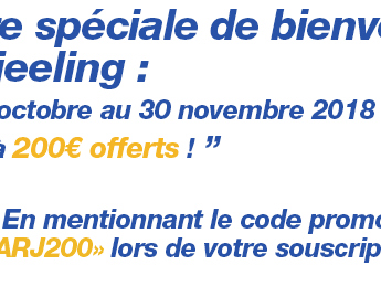 Assurance-Vie Darjeeling (SwissLife) : jusqu'à 200€ offerts pour votre souscription jusqu'au 30 novembre 2018