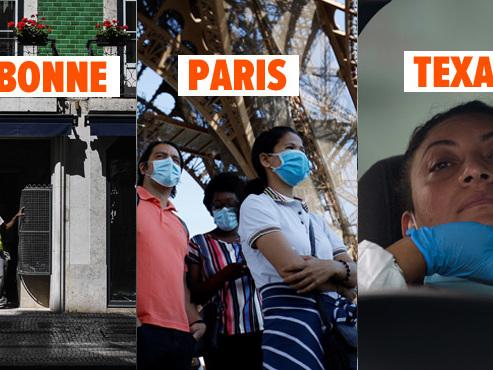 Coronavirus - BILAN MONDIAL: retour du confinement à Lisbonne, des touristes à la Tour Eiffel et déconfinement gelé au Texas