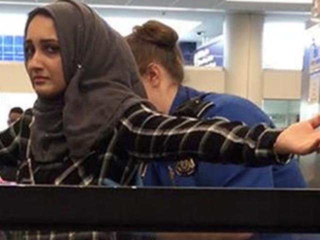 Une musulmane contrainte de montrer sa serviette hygiénique ensanglantée à la douane américaine