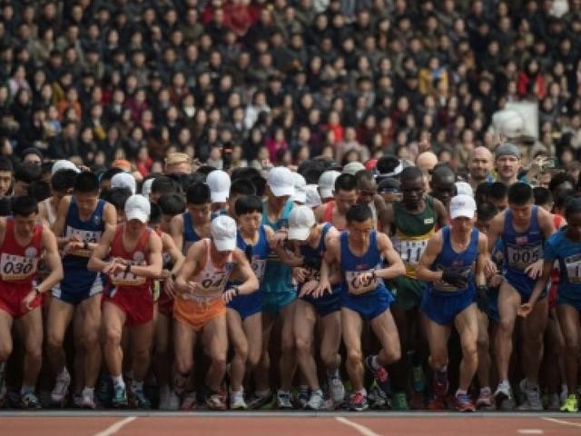Au marathon de Pyongyang, la solitude des coureurs de fond étrangers