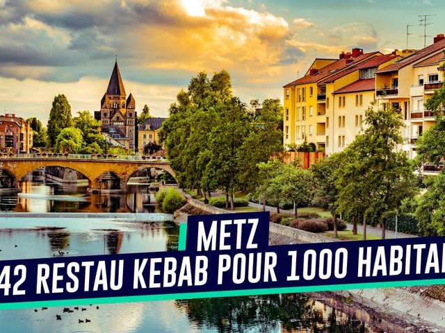 Top 10 des villes françaises avec le plus de restaurants kebab par habitant, celles où il faut vivre