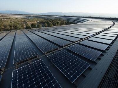 La pomme toujours plus verte : 100 % des implantations physique d'Apple couvertes par de l'énergie renouvelable
