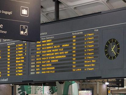SNCF teste l'affichage des quais 30 minutes avant le départ