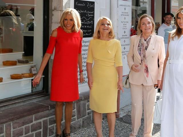 G7 : Brigitte Macron, Melania Trump et les premières dames en visite à Espelette