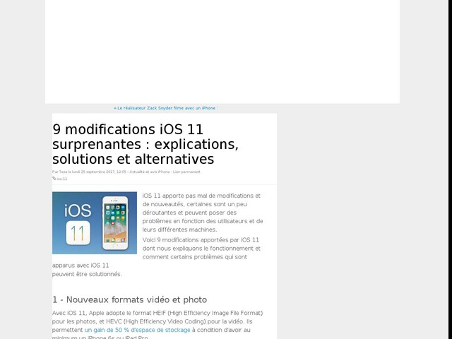 9 modifications iOS 11 surprenantes : explications, solutions et alternatives